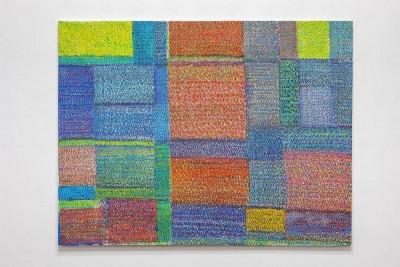 Simona Weller, Spazi inediti, 2007, pastello ad olio su tela, cm 166 x 212