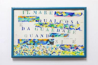 Simona Weller, Il mare, qualcosa da guardare quando si è adirati, 2006, acquerello su carta, cm 41 x 60 (incorniciato)