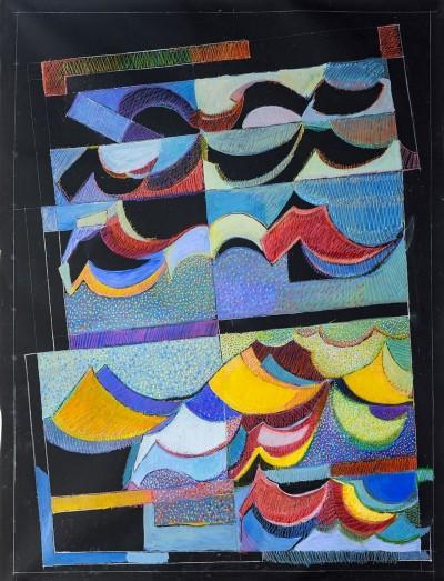 Simona Weller, Per un valzer di Eric Satie, 2014, pastello ad olio su tela, cm 2016 x 164