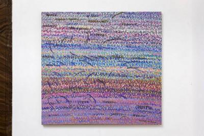 Simona Weller, quando arriva l'estate, 2008, pastello ad olio su tela, cm 96 x 102