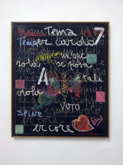 Simona Weller, Er cardo, 1972, pastello ad olio su tela, cm 65,5 x 55,5 (con cornice)